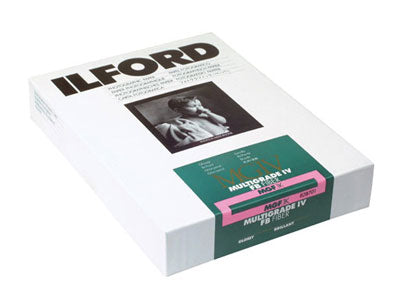 10x8 Ilford Multigrade IV Fiber Base Paper 25 Sheet Pack