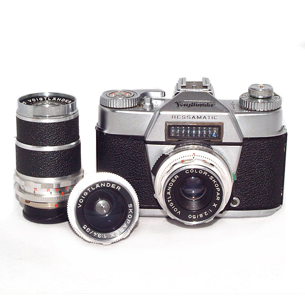 Voigtlander Bessamatic with 3 lenses