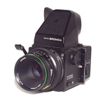 Bronica ETRS with 75mm Lens, 120 Film Back and Rotary Prism