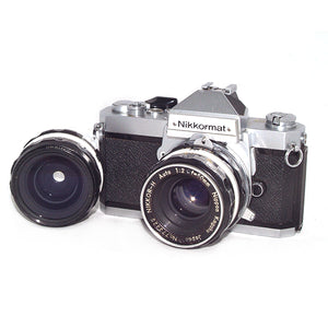Nikon Nikkormat FT2 with 50mm f2 and 28mm f3.5 Lenses