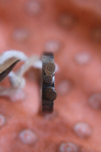 Oxidised desert tracks ring - size O1/2