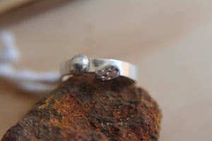 Desert pebble band ring - size O1/2