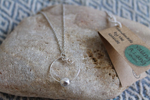 Swirly bubble necklace on 60cm chain