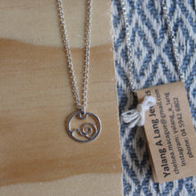 Load image into Gallery viewer, Flowing tide necklace on 40cm chain
