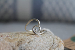 Swirled high wave ring - size U1/2
