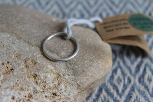 Salty sand footprints ring - size P1/2