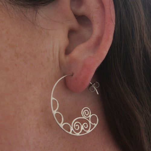 Ocean bubbles hoop earrings