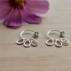 Petal blossom hoop earrings #1
