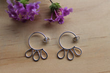 Load image into Gallery viewer, Petal blossom hoop earrings #1