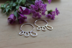 Petal blossom hoop earrings #2