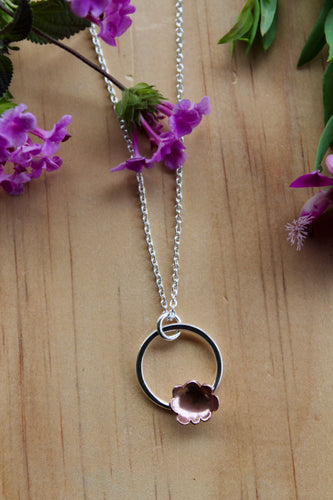 Forever flowering necklace #5 40cm chain