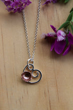 Load image into Gallery viewer, Flowering spiral necklace 45cm chain