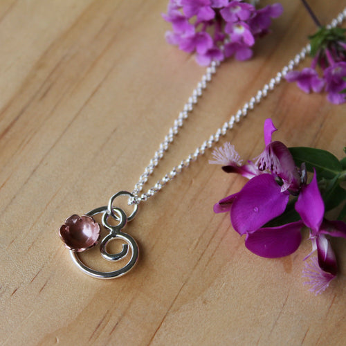 Flowering spiral necklace 45cm chain