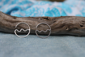 Flow hoop earrings