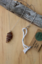 Load image into Gallery viewer, Seaglass swirl Necklace (Queenscliff, VIC) 45cm chain