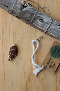 Seaglass swirl Necklace (Queenscliff, VIC) 45cm chain
