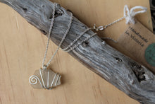 Load image into Gallery viewer, Seaglass swirl Necklace (Indented Head, VIC) on 45cm chain