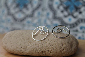 Wave stud earrings Smalll #1