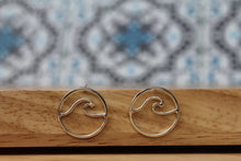Load image into Gallery viewer, Wave stud earrings Smalll #2