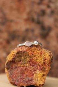 Desert pebble ring - size 0