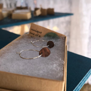 Desert sand hoop earrings