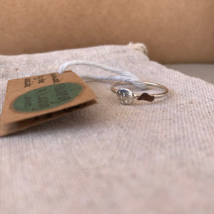 Duo textured sand & sea ring Size Q1/2
