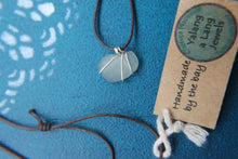 Load image into Gallery viewer, White seaglass swirl necklace on your choice of cord or silver chain