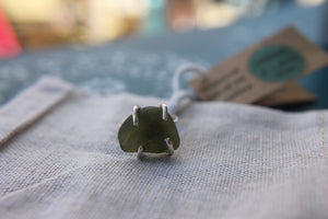 Seaglass swirl ring (Indented Head, VIC) Size O