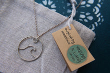 Load image into Gallery viewer, Wave charm necklace
