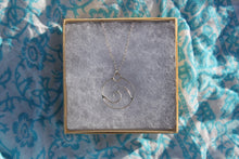 Load image into Gallery viewer, Swirled wave charm necklace