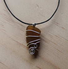 Load image into Gallery viewer, Seaglass swirl Necklace (Dee Why Beach, NSW) on cord