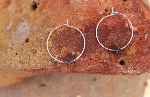 Tumble weed hoop earrings