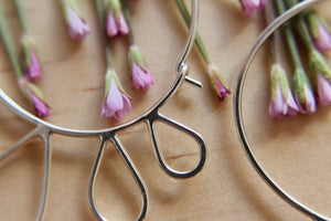 Petal blossom hoop earrings