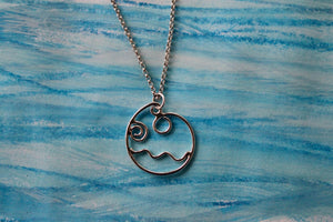 Flowing tide necklace on 45cm chain