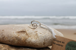 Swirled high wave ring - Size P