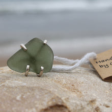 Load image into Gallery viewer, Seaglass swirl ring (Cape Bridgewater, VIC) Size L1/2