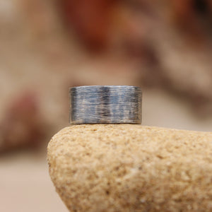 Dusty breeze wide band ring - size P