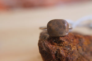 Desert tracks ring - size O1/2