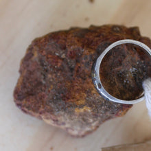 Load image into Gallery viewer, Oxidised Bush twigs ring - size L