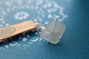 Seaglass swirl ring (Jan Juc Beach) Size N1/2