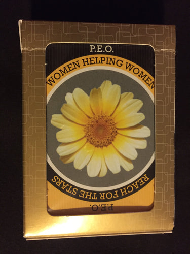 P.E.O. Women Helping Women Reach for the Stars Playing Cards