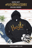 'HUSTLE WITH LOVE' Collection Women's College Hoodie