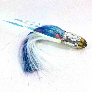 "Ali'i Kai Lures - 7"" - Cracked Mirror 6 Shooter - Skirted Flashabou +Wings - New-Big Game Lures Hawaii"