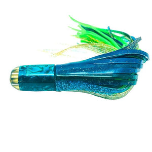 "Ali'i Kai Lures - Jetted 7"" Peanut in Teal Shell  - Skirted - New"