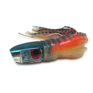 "Bomboy Lures - Teal - Chopped Bullet - Ahi Bomb - 9"" Skirted - Like New-Big Game Lures Hawaii"