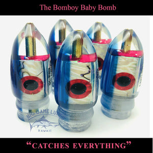 "Bomboy Lures Baby Bomb 9"" / 4.5 oz - Blue New-Big Game Lures Hawaii"