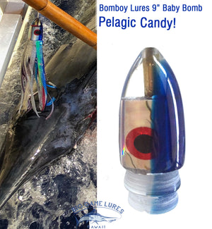 "Bomboy Lures Baby Bomb 9"" / 4.5 oz - Blue New-New Lures-Big Game Lures Hawaii"