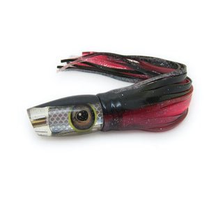 Feshamon Lures - Black over Chrome - Pusher Reverse Taper - Skirted - New-Big Game Lures Hawaii