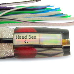 "Head Sea Lures - GL Plunger - Black Back - 13"" - Like New-New Lures-Big Game Lures Hawaii"
