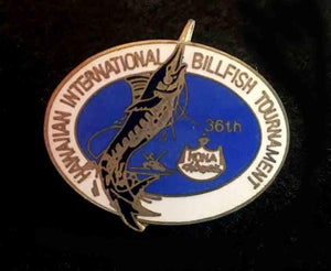 HIBT Hawaiian International Billfish Tournament vintage pin